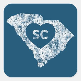 Used I Love South Carolina State Stickers