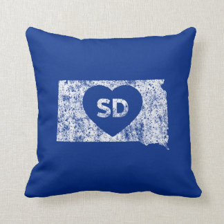 Used I Love South Dakota State Throw Pillow