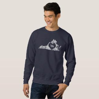 Used I Love Virginia State White Men's Shirt