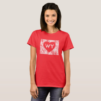 Used I Love Wyoming State Women's Basic T-Shirt
