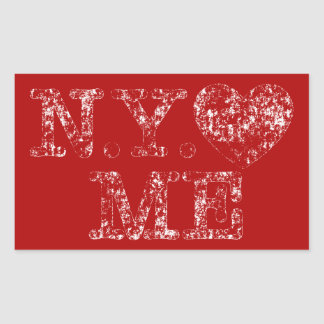 Used N.Y. Love Me Rectangular Sticker