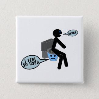 Used Toilet 15 Cm Square Badge