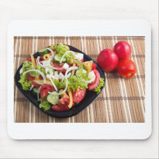 Useful and natural vegetable salad of tomato mouse pad
