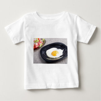 Useful homemade breakfast of fried egg and a salad baby T-Shirt