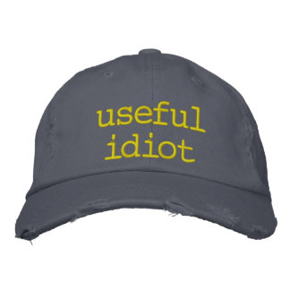 useful idiot embroidered hat