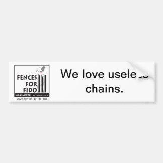 Useless Chains bumper sticker