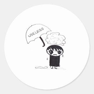 Useless EMO Round Sticker