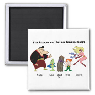 Useless Superheroes Magnet