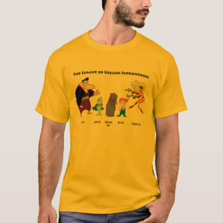 Useless Superheroes on Color T-Shirt