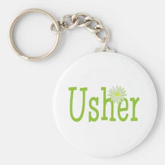 Usher/ Daisy theme Basic Round Button Key Ring
