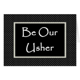 USHER  Invitation  with Checked Border