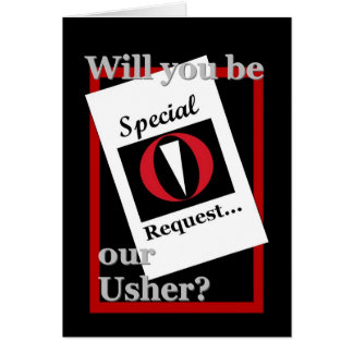USHER Wedding Invitation - Special Request