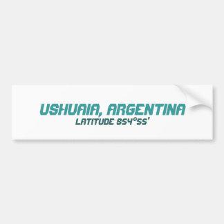 Ushuaia, Argentina. Finisterre. World's End Bumper Sticker