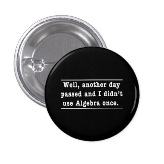 Using Algebra 3 Cm Round Badge