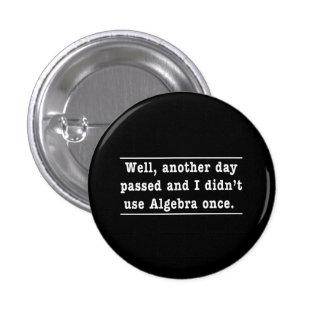 Using Algebra 3 Cm Round Badge