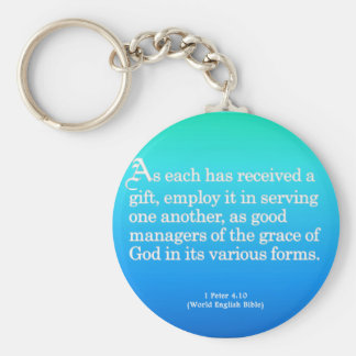 Using Gifts from God 1 Peter 4:10 Key Ring