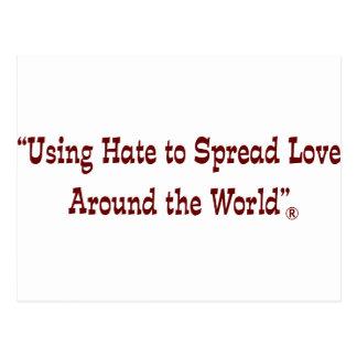 Using Hate Garnet Postcard