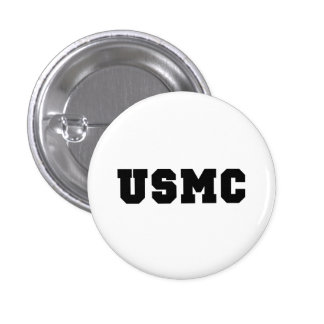 USMC [bold text] 3 Cm Round Badge