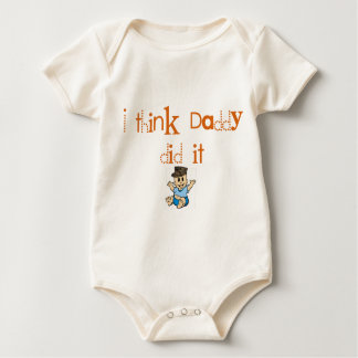 USMC Daddy did it Baby Bodysuit