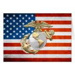 USMC Eagle, Globe & Anchor (EGA) [3D] Cards
