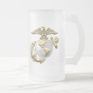 USMC Eagle, Globe & Anchor (EGA) [3D] Glass Beer Mugs