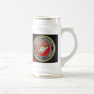 USMC Emblem & Uniform [3D] Beer Stein