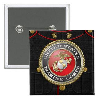 USMC Emblem Uniform 3D Button