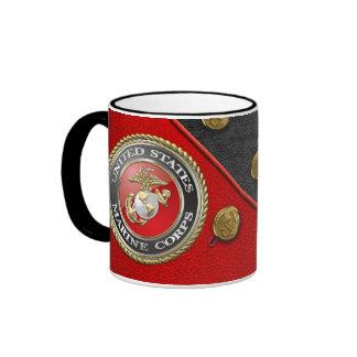 USMC Emblem & Uniform [3D] Coffee Mug