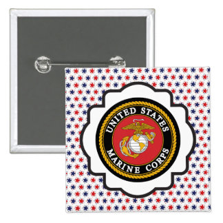 USMC Emblem with Red, White and Blue Stars 15 Cm Square Badge