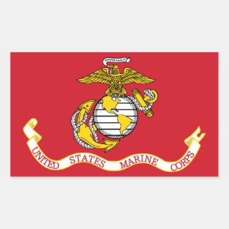 USMC Flag Rectangular Sticker