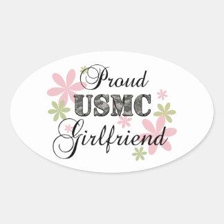 USMC Girlfriend [fl camo] Oval Sticker