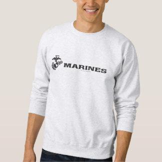 USMC Logo - Black Pull Over Sweatshirt