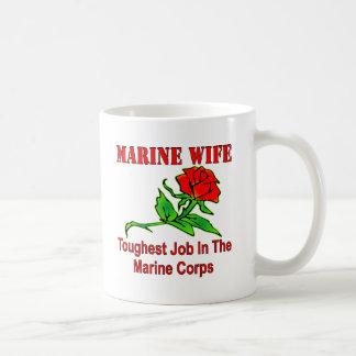 USMC Marine Wife Toughest Job In The Marine Corps Mug