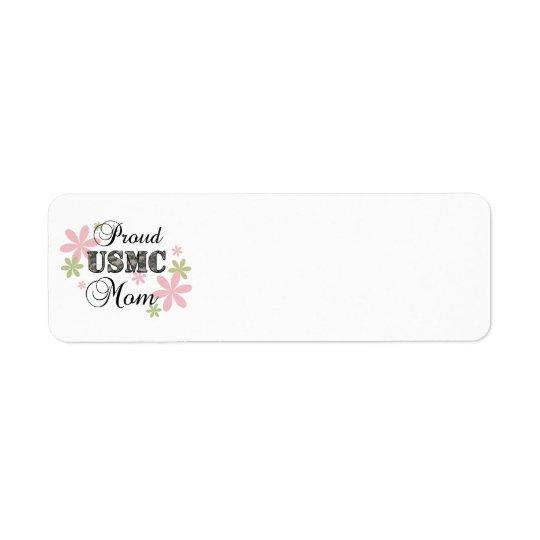 USMC Mum [fl camo] Return Address Label