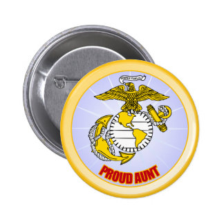 USMC Proud Aunt 6 Cm Round Badge