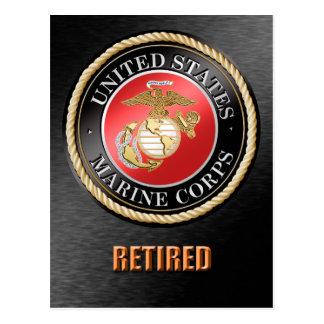 USMC Retired Postcard