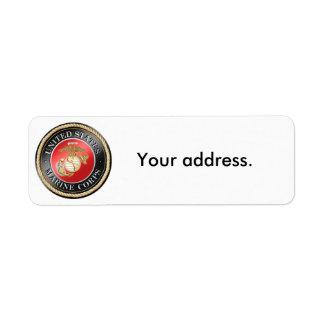 USMC Return Address Labels