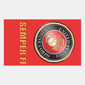 USMC Semper Fi Rectangular Sticker