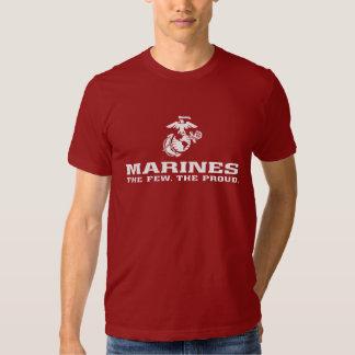 USMC The Few The Proud Logo Stacked - White Tshirt