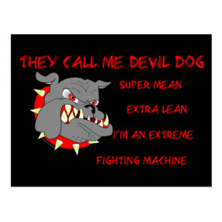 USMC They Call Me Devil Dog Postcard