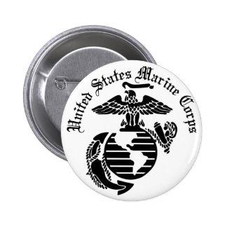 USMC United States Marine Corps 6 Cm Round Badge