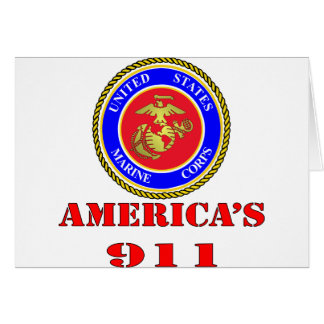 USMC United States Marine Corps America's 911 Card