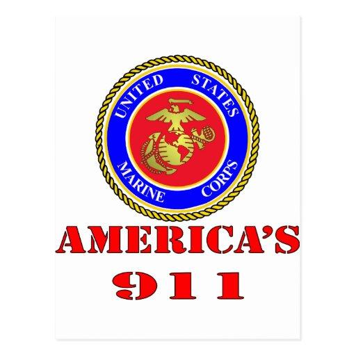 USMC United States Marine Corps America's 911 Post Cards