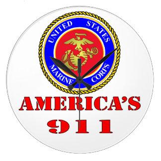 USMC United States Marine Corps America's 911 Wallclock