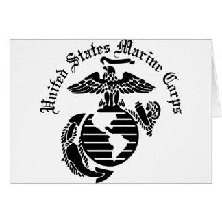 USMC United States Marine Corps Greeting Card