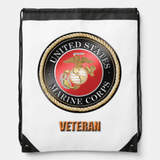 USMC Veteran Drawstring Backpack