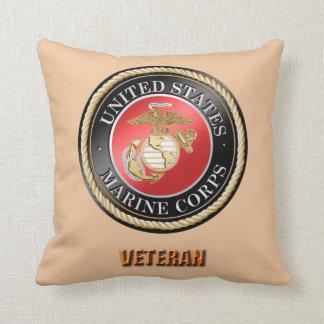 USMC Veteran Throw Pillow