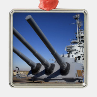 USS Alabama Battleship at Battleship Memorial 2 Metal Ornament