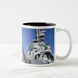 USS Alabama Battleship at Battleship Memorial 2 Two-Tone Coffee Mug