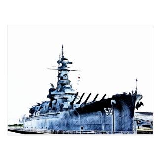 USS Alabama Battleship Memorial Park Postcard